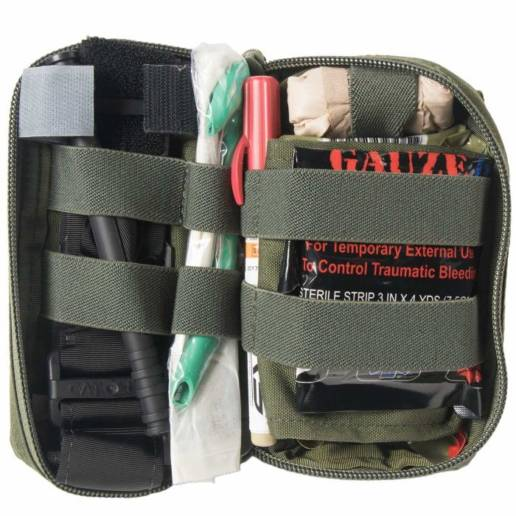Inside of mini-first aid kit