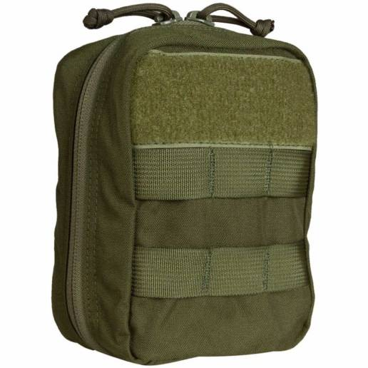 front of medical kit in od green