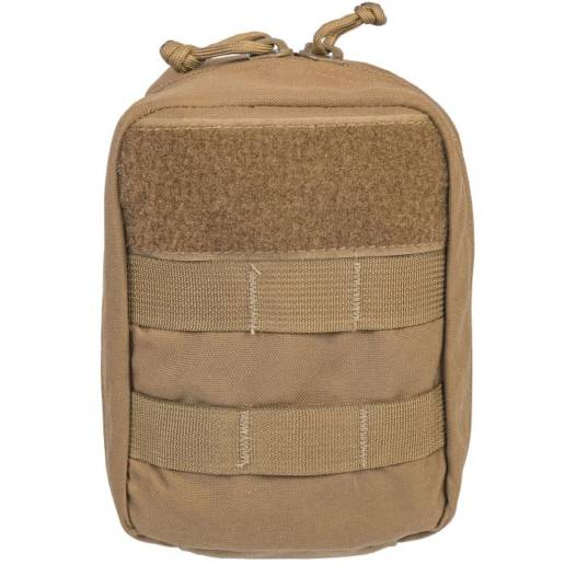 front of medical kit in coyote tan